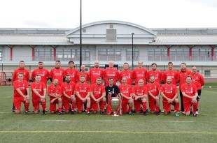 Some of the veterans taking part in LFC's Barracks to Boot Room Programme © Liverpool Football Club