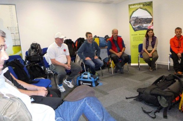 Participants on the Positive Futures programme in a group session