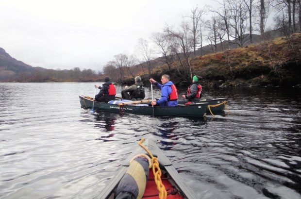 Participants on the Positive Futures programme on the water